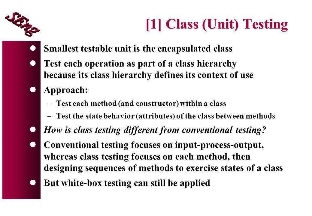 [1] Class (Unit) Testing